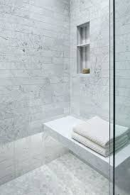 Custom Master Bathrooms Classy Carrera Marble Floating Shower Bench With Custom Lighting