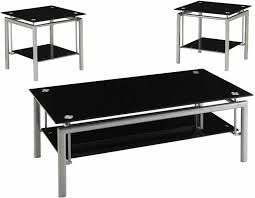 black glass coffee table. Creative Black Glass Coffee Table Set