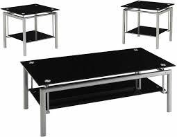 creative black glass coffee table set