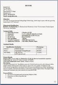 Job Interview Resume Format Download Resume Writing