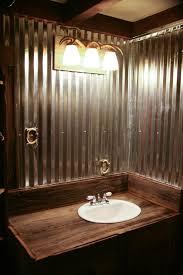 Barnwood Bathroom Bathroom We Used Barn Tin And Barn Wood To Keep Everything