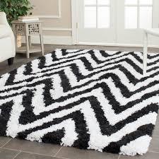 safavieh chevron ivory black 6 ft x 9 ft area rug