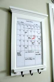 dry erase wall calendar organizer decor white perpetual family planner for whiteboard ideas decorating den interiors