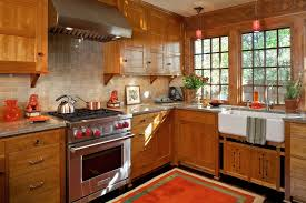 minneapolis red birch cabinets kitchen craftsman with 3 panel traditional faucets
