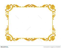ornament elements vintage gold frame fl designs