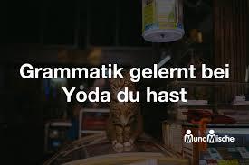 Grammatik Gelernt Bei Yoda Du Hast Bedeutung Und Mundmischede