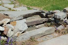 concrete steps in garden construction