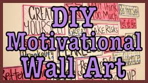 on motivational wall art for home with diy motivational wall art youtube