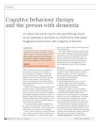 A private course with cheat sheets for becoming a memory master, starting from scratch. Pdf Cbt And The Person With Dementia