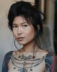 Anhwisle красивые люди татуировки модные портреты и азиатская
