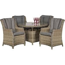 royalcraft wentworth rattan round 4 seater comfort dining set