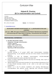 Instrument Commissioning Engineer Sample Resume