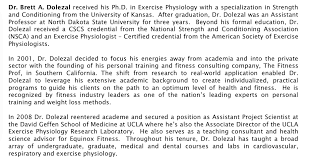 exercise physiology research laboratory personnel dr brett a dolezal