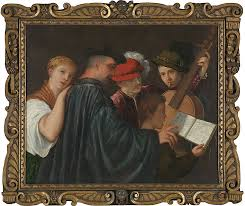 possibly by titian the lesson circa 1535 from the frames in focus sansovino frames exhibition the national gallery london