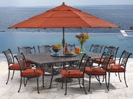 naples 11 pc cast aluminum dining set