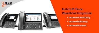 Business Phone Book Matrix Ip Phone Phonebook Integration Increase Productivity