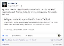 justin tadlock page of life blogging and wordpress anne rice shared my essay