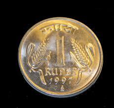 Indian 1-rupee coin - Wikipedia