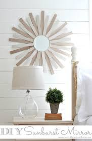diy painted mirror frame. View In Gallery Sunburst Mirror Frame Made From Paint Sticks Diy Painted A