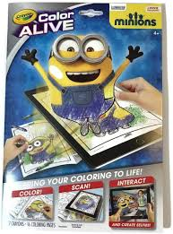 Before knowing it more, it is better for you to recognize what minion is. Amazon Com Crayola 95 1053 Color Alive Minions Coloring Pages Black Toys Games