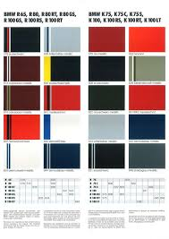 Bike Paint Colour Chart Bmw Colour Charts Through The Years