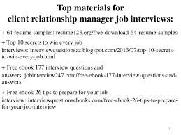 Client Relationship Management Resume Client Relationship Manager Resume Sample Pdf Ebook