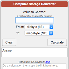 Computer File Size Conversion Chart Computer Storage Units Conversion Calculator