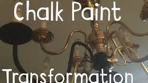 diy chandelier makeover chalk paint miracle