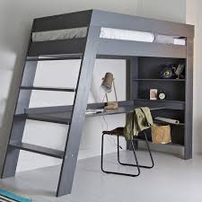 This loft bed is designed to be both durable and functional while showing  clean modern lines. The bed pictured is a full size bed made out of |  Pinterest ...