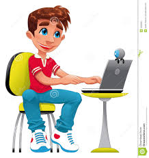 Image result for boy on computer