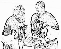 Small Picture Penguins Coloring Pages Hockey