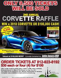 Cash Raffles 2018 Chevy Corvette Or 100 000 Cash