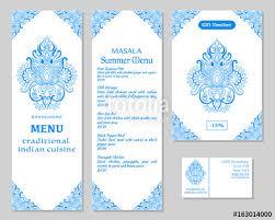 Indian Food Restaurant Menu Template Food Flyer Business Card