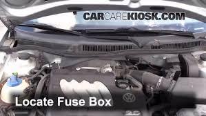 blown fuse check 1999 2005 volkswagen jetta 2004 volkswagen locate engine fuse box and remove cover