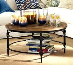griffin table pottery barn griffin coffee table pottery barn round coffee table used parquet reclaimed wood