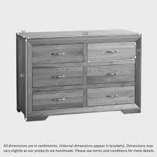 bevel  drawer chest in natural solid oak  oak furniture land