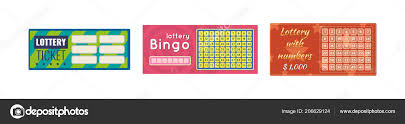 Lottery Tickets Bingo Lotto Raffle Of Money And Prizes Stock