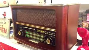 large retro style cd radio wood player brand new audio input output you