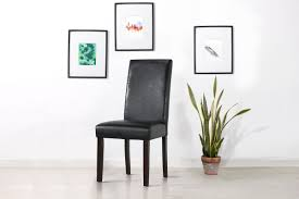 kogan furniture. Ovela Set Of 2 Kyran PU Leather Dining Chairs (Black) Kogan Furniture
