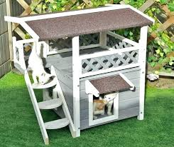 diy kitty condo bonanza cat outdoor house shelter pet bed weatherproof furniture cats home plans from diy kitty condo