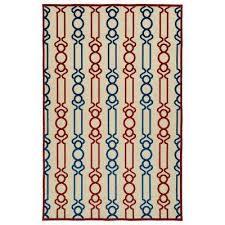 five seasons red 4 ft x 6 ft indoor outdoor area rug