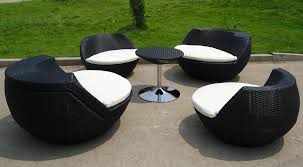 top black outdoor patio furniture and oversized chairs 2 regular sized chairs and 1 accent table 4 0