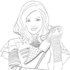 Descendants Coloring Pages Mal And Evie Printable 2 Porongurup