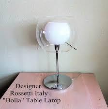 Rossetti Italy Bolla Designer Table Lamp Transparant White Etsy