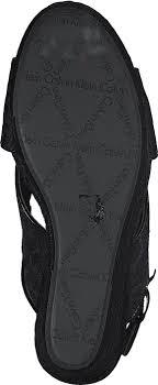 Calvin Klein Jeans ELAINE CK LOGO JACQUARD/PATENT BBK Schwarz Schuhe ...