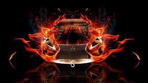 lexus lf lc fire abstract car