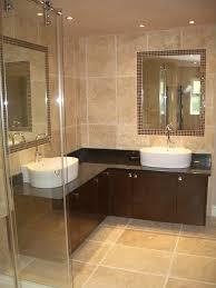 Bathroom Sink Cabinets Double Round Undermount Sink Cream Granite ...
