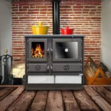 wood stove onyx 14 kw to 18 kw combustion chamber 100 in cast iron