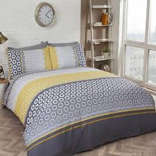 barbican duvet cover set grey yellow