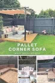 Easy <b>Pallet Corner Sofa</b> • 1001 <b>Pallets</b> | Diy <b>garden</b> furniture, <b>Pallet</b> ...